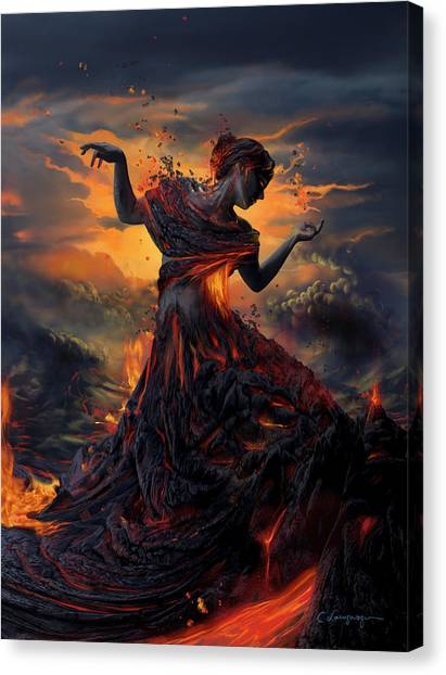 Lava Canvas Print - Elements - Fire by Cassiopeia Art
