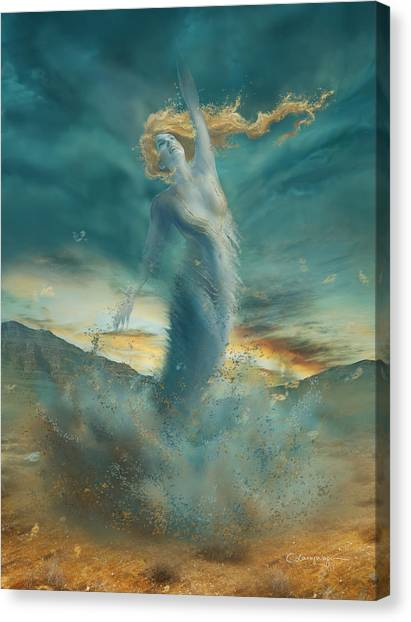 Tornadoes Canvas Print - Elements - Wind by Cassiopeia Art