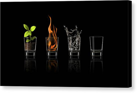Flames Canvas Print - Elements... by Jose Mar?a Frutos