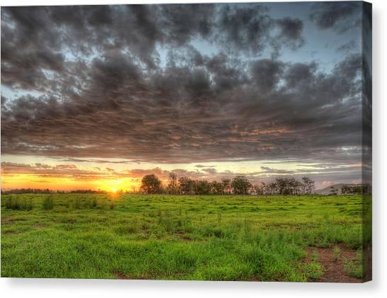 Elements Of A Waimea Sunset Canvas Print