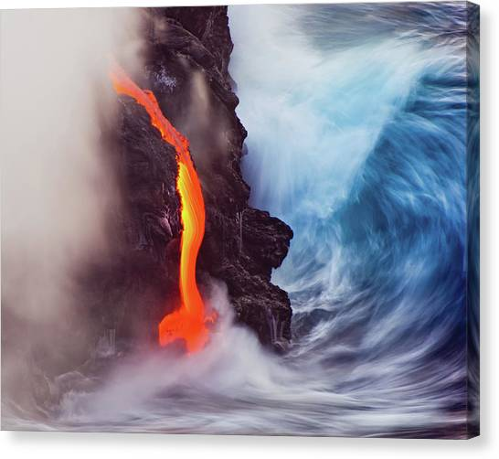 Lava Canvas Print - Elements Of Nature by Andrew J. Lee