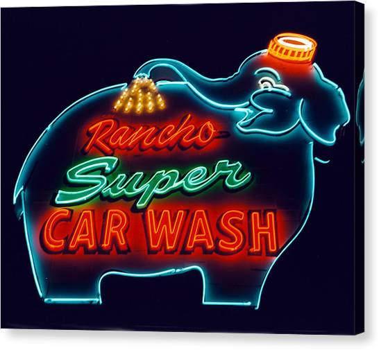 Elephant Car Wash Rancho Mirage California Canvas Print