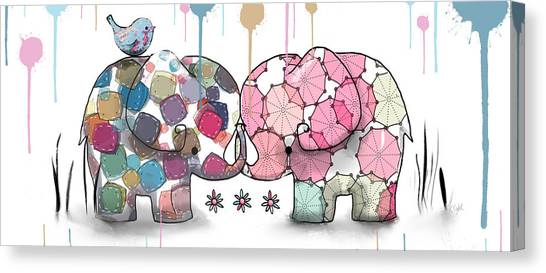 Baby Taylors Canvas Print - Elephant Confection by Karin Taylor