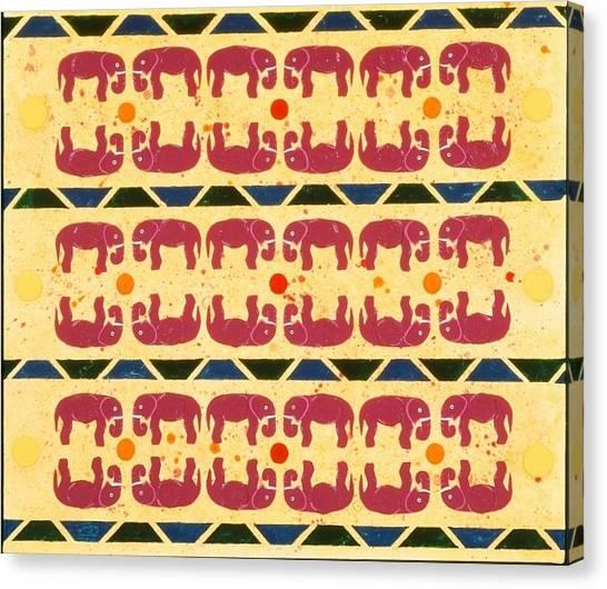 Elephant Dance Canvas Print
