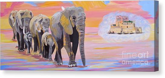 Elephant Fantasy Must Open Canvas Print