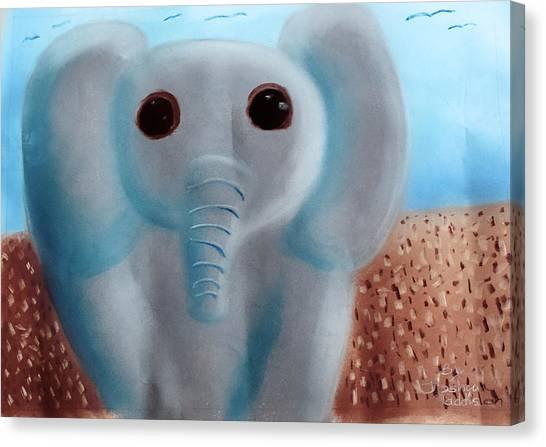 Animalart Elephant Canvas Print