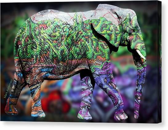 Rhinos Canvas Print - Elephant by Mark Ashkenazi