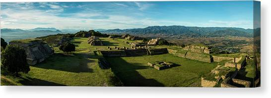 Oaxaca Canvas Print - Elevated View Of Archaeological Site by Panoramic Images