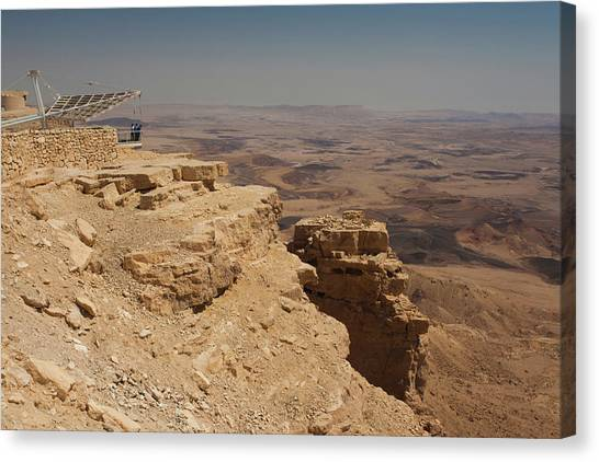 Negev Desert Canvas Print - Elevated View Of Desert, Makhtesh by Panoramic Images