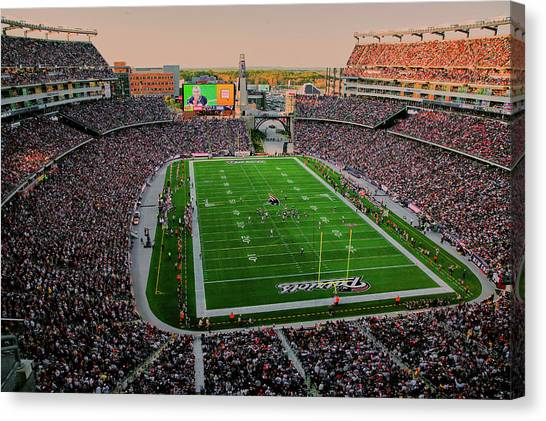 Patriot League Canvas Print - Elevated View Of Gillette Stadium, Home by Panoramic Images