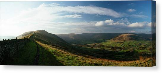 Peak District Canvas Print - Elevated View Of Landscape From Mam by Panoramic Images