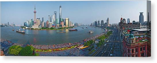 Bund Canvas Print - Elevated View Of Skylines, Oriental by Panoramic Images