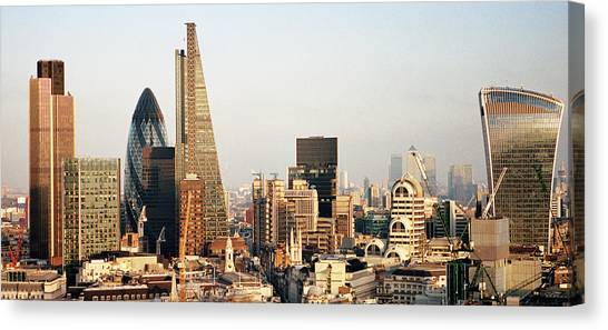 Elevated View Over London City Skyline Canvas Print by Gary Yeowell