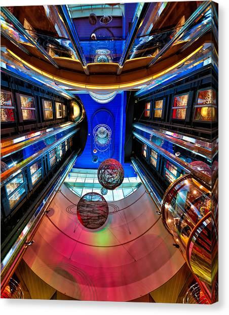 Elevators Aboard The Royal Caribbean Adventures Of The Seas Canvas Print