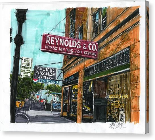 Eleventh And I Streets Canvas Print by Paul Guyer