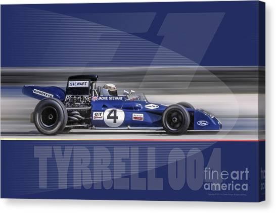 Elf Team Tyrrell 004 Canvas Print