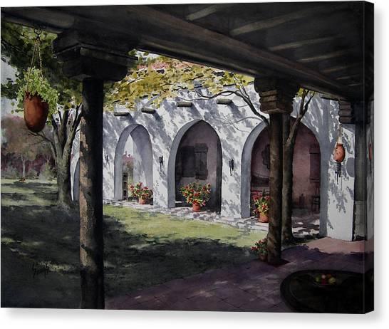 Elfrida Courtyard Canvas Print