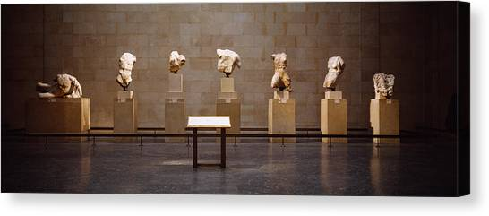The British Museum Canvas Print - Elgin Marbles Display In A Museum by Panoramic Images