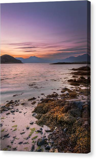 Landscape Wall Art Sunset Isle Of Skye Canvas Print
