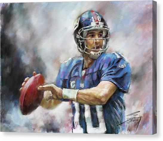 Eli Manning Nfl Ny Giants  Canvas Print