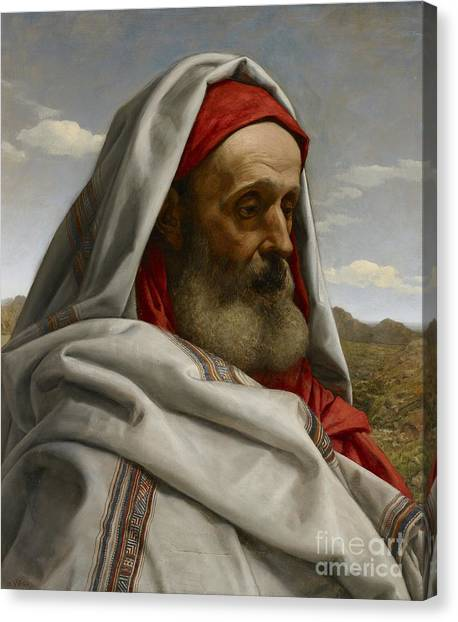 Old Testament Canvas Print - Eliezer Of Damascus by William Dyce
