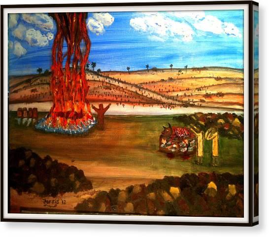 Elijah Calls Down Fire From Heaven Canvas Print