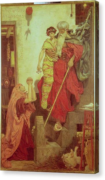 Old Testament Canvas Print - Elijah Restoring The Widows Son, 1868 by Ford Madox Brown