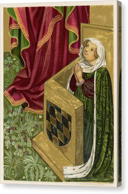 Elisabeth Von Brandenburg Wife Canvas Print by Mary Evans Picture Library
