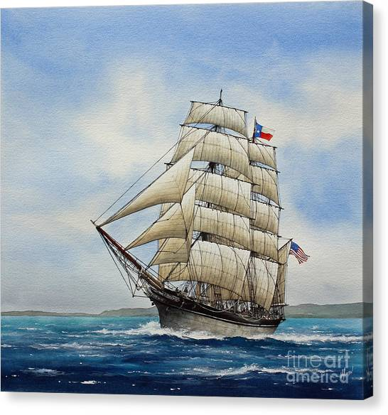 Tall Ships Canvas Print - Elissa by James Williamson