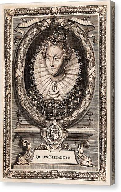 Queen Elizabeth Canvas Print - Elizabeth I by Middle Temple Library
