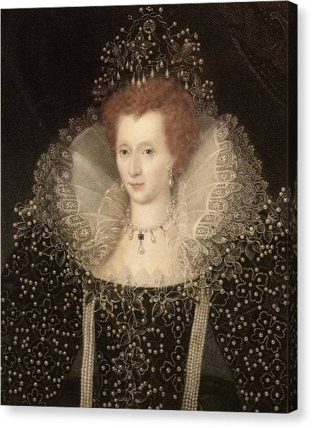 Queen Elizabeth Canvas Print - Elizabeth I by Paul D Stewart