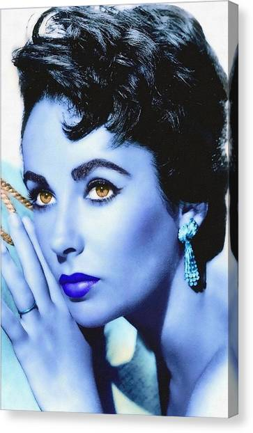 Elizabeth Taylor Canvas Print by Art Cinema Gallery