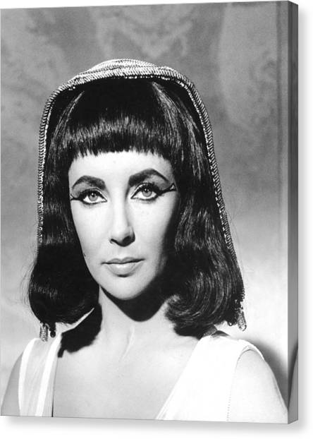 Elizabeth Taylor Canvas Print - Elizabeth Taylor In Cleopatra  by Silver Screen