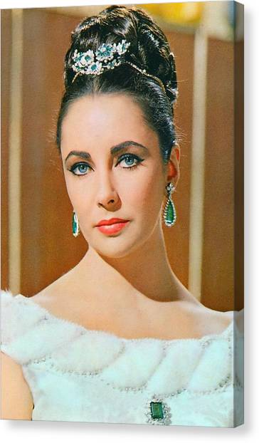 Elizabeth Taylor In The V.i.p.s. Canvas Print by Art Cinema Gallery