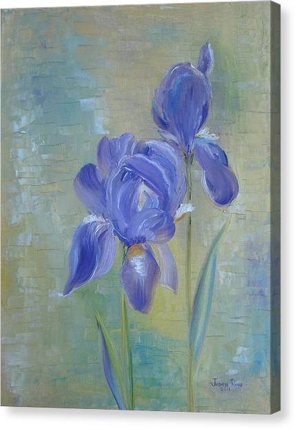 Elizabeth's Irises Canvas Print