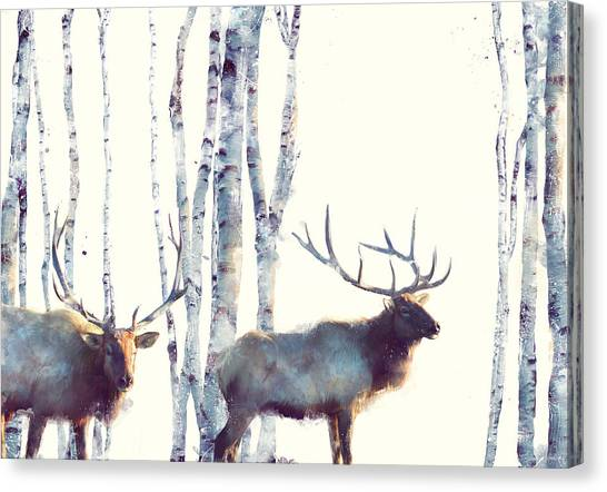 Christmas Art Canvas Print - Elk // Follow by Amy Hamilton