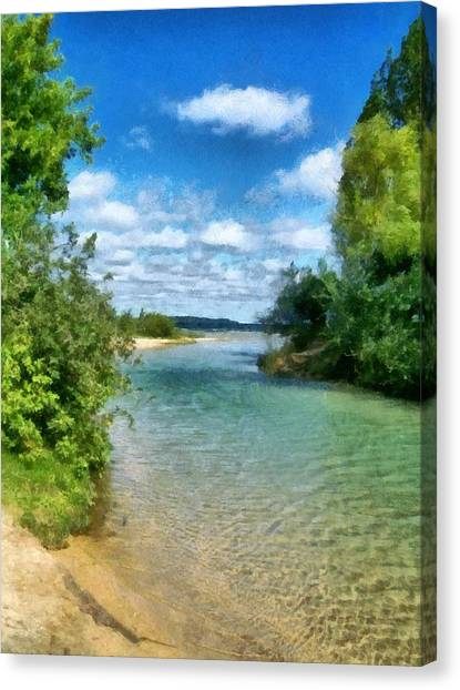 Elk River- Elk Rapids Michigan Canvas Print