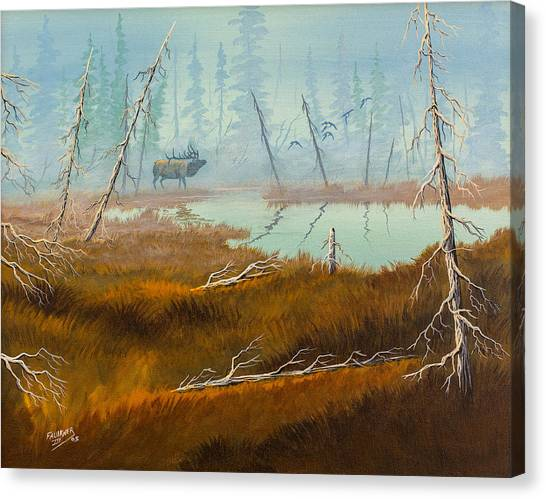 Elk Swamp Canvas Print