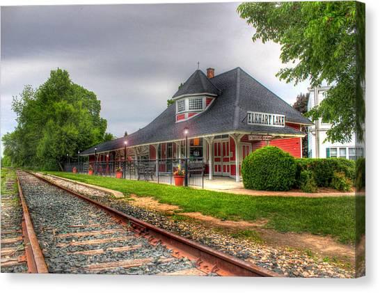 Elkhart Lake Historic Train Depot Canvas Print