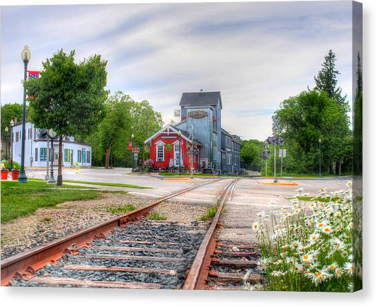 Elkhart Lake Off The Rail And Feed Mill Market Canvas Print