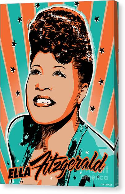 Ella Fitzgerald Pop Art Canvas Print