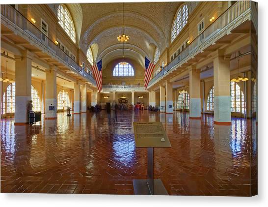 Ellis Island Registry Room Canvas Print