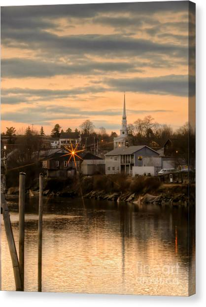 Ellsworth Sunset Canvas Print
