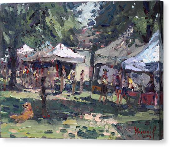 Juice Canvas Print - Elmwood-bidwell Farmers Market by Ylli Haruni