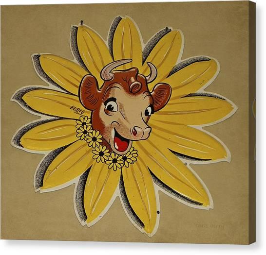 Elsie The Borden Cow  Canvas Print