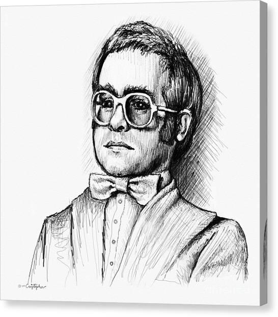 Elton John Canvas Print - Elton  by Cristophers Dream Artistry