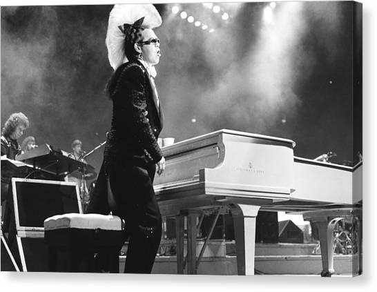 Elton John Canvas Print - Elton John '86 by Chris Deutsch