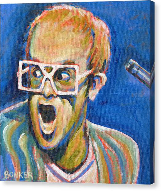 Elton John Canvas Print - Elton John by Buffalo Bonker