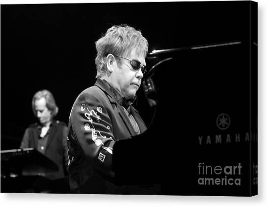 Elton John Canvas Print by Jenny Potter