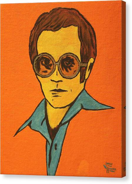Elton John Canvas Print - Elton John by John Hooser